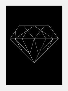 Image of Single Diamond Poster