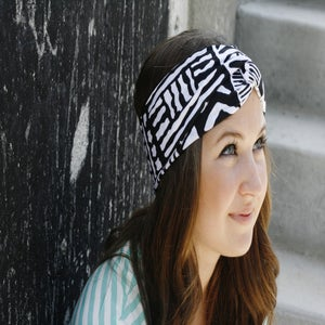 Image of Turban Headband in Tribal Print