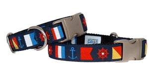Image of Nautical Flags - Dog Collar in the category  on Uncommon Paws.
