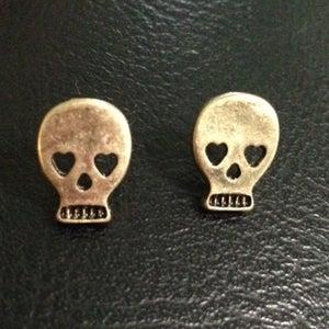 Image of Skull Stud Earrings