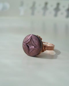 "Image of ""Copper Star"" vintage-style button ring"