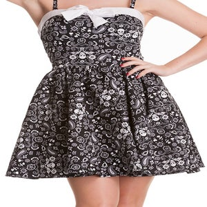 Image of Rockabilly Black Bandana Dress