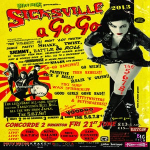 Image of Sicksville a Go Go the 5.6.7.8's Large Poster Print