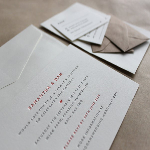 Letterpress Business Cards And Wedding Invitations