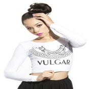 Image of VULGAR CROP TOP (WHITE)