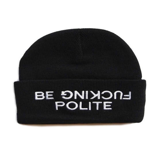 Image of BE F*CKIN POLITE BEANIE