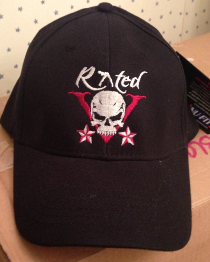 Image of Rated V black fitted baseball cap