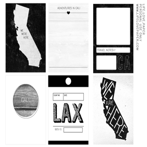 Image of California printable journal cards