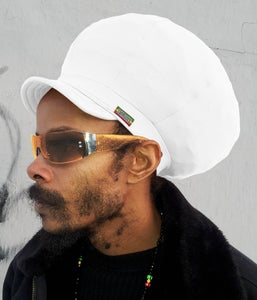 Image of Jah Roots Stretch Hats With Beak (White)