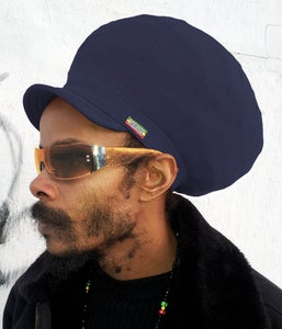Image of Jah Roots Stretch Hats With Beak (Navy)
