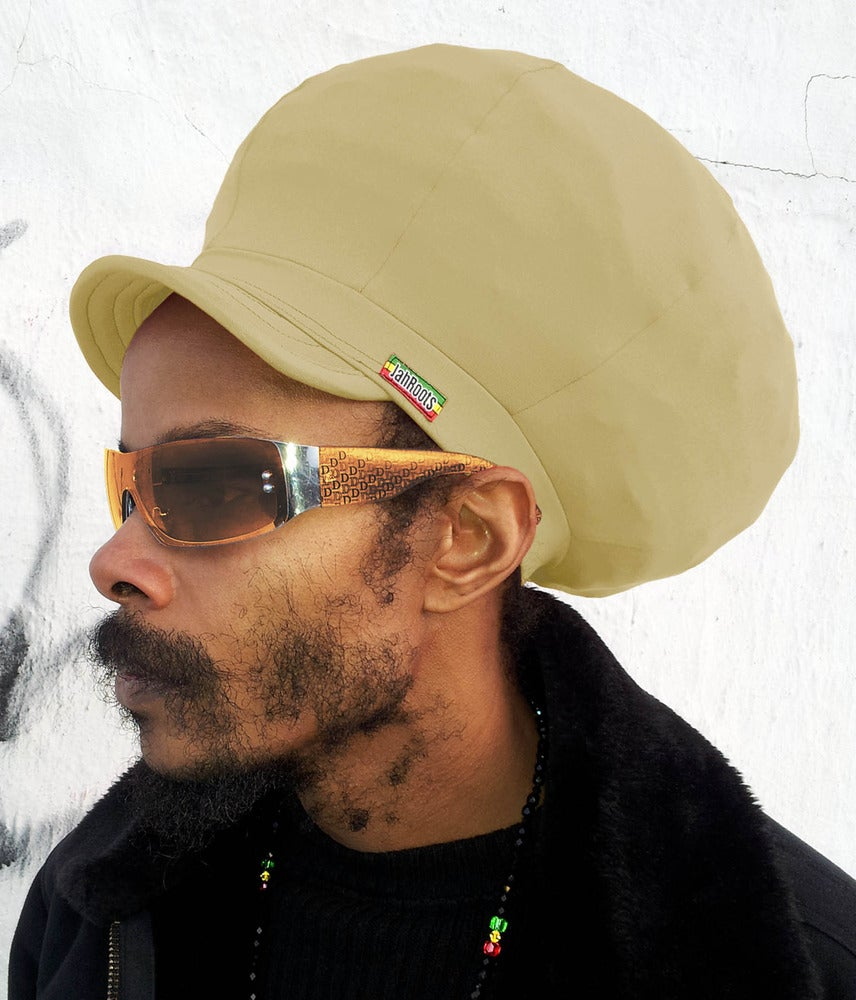 Image of Jah Roots Stretch Hats With Beak (Khaki)