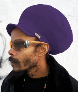 Image of Jah Roots Stretch Hats With Beak (Purple)
