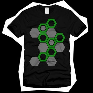Image of Hexs Tee - BlackGreenGrey