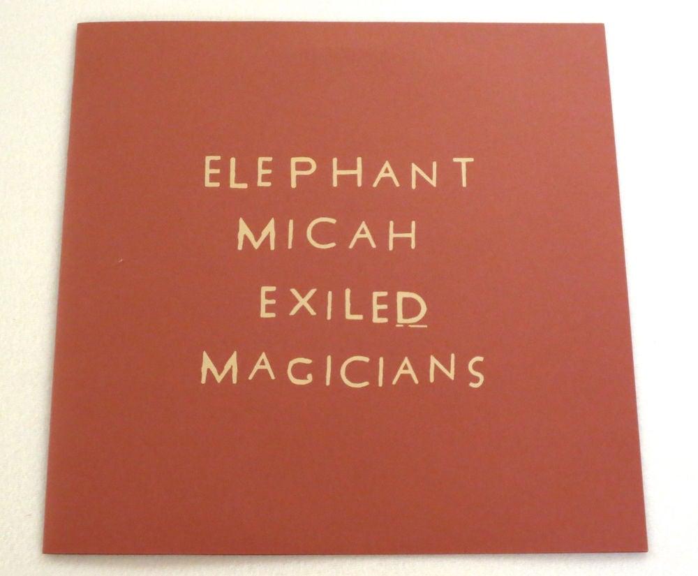 Image of ELEPHANT MICAH ~ EXILED MAGICIANS ~ lp (TIME-LAG 1XX1)
