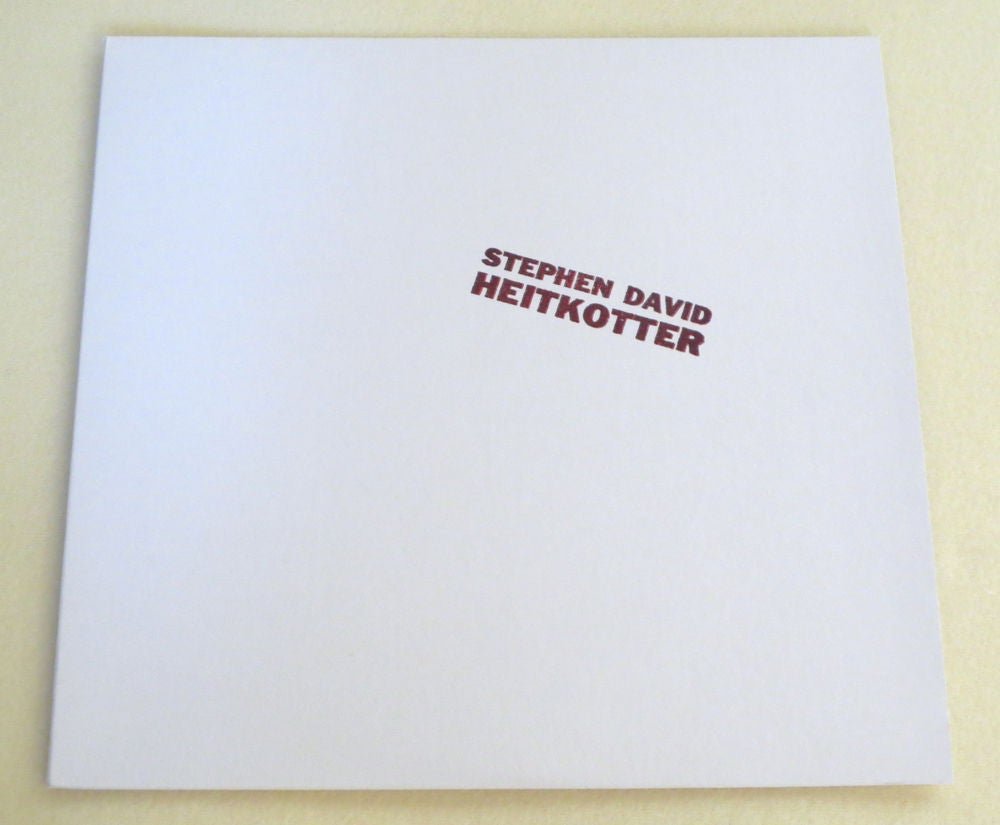 Image of STEPHEN DAVID HEITKOTTER ~ HEITKOTTER ~ lp (TIME-LAG 052)