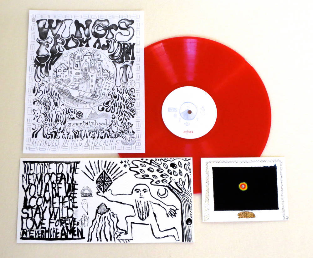 Image of MOUNTAINHOOD ~ WINGS FROM A STORM ~ lp (TIME-LAG / RED RECORDS #6)