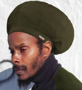 Image of Jah Roots Stretch Hats (Olive)