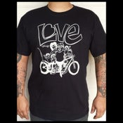 Image of Love cycles chopper family portrait black