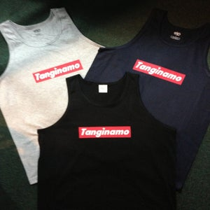 "Image of ""TANGINAMO"" box logo tank"