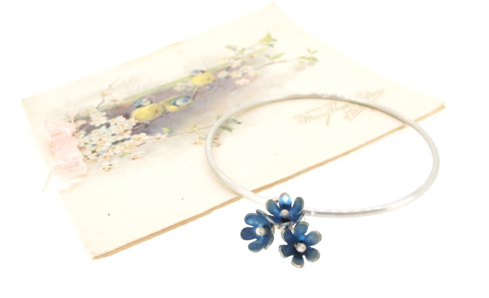Image of Springtime Forget-me-not charm bangle