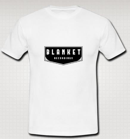 Image of BLANKET RECORDINGS- Unisex white cotton t-shirt