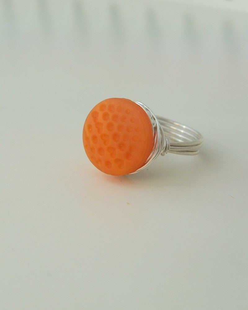 "Image of ""Summer Sweet"" vintage button ring"