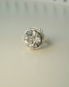 "Image of ""The Leading Role in silver"" vintage button ring"