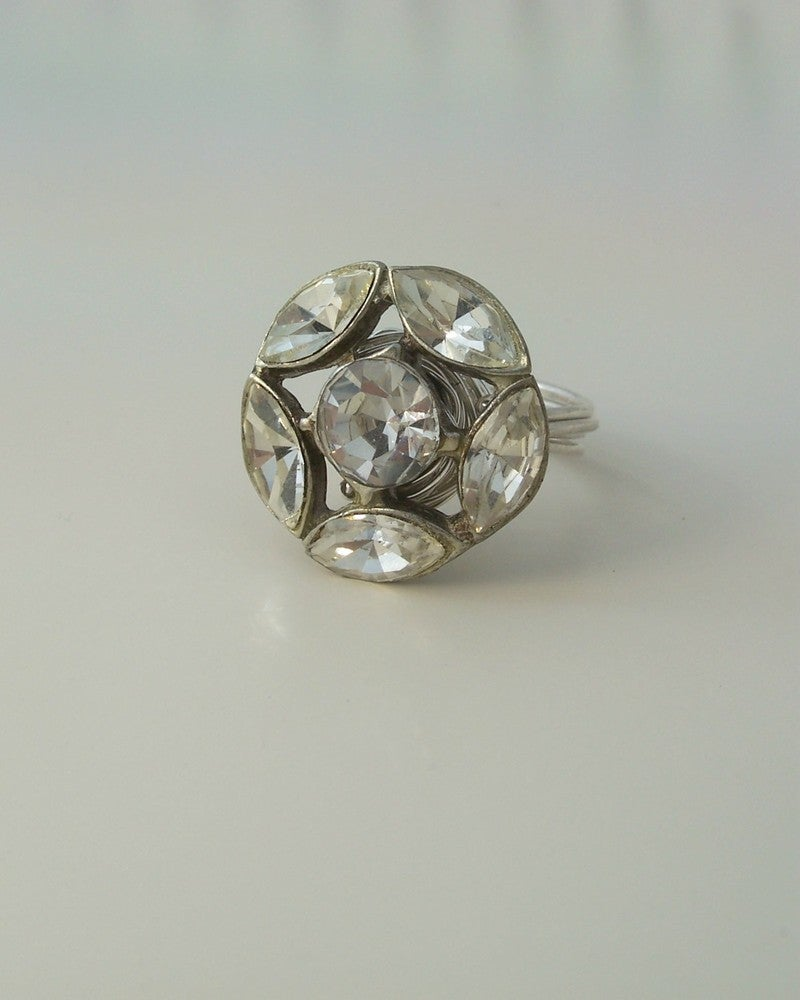 "Image of ""The Marquis"" vintage button ring"
