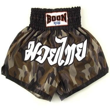Image of Boon Sport Camo Green Muay Thai Shorts