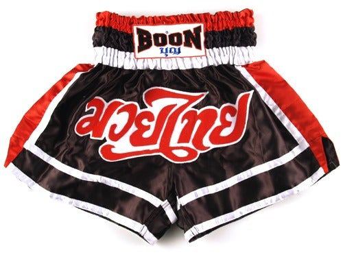 Image of Boon Sport Red White Black Muay Thai Shorts
