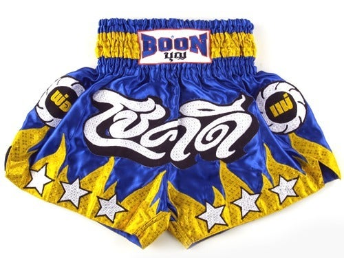Image of Boon Sport Chok Dee Flames Muay Thai Shorts