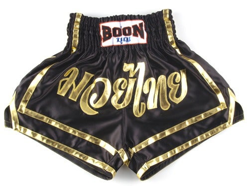 Image of Boon Sport Black Gold Muay Thai Shorts