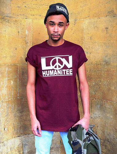 Image of Burgundy LOV tee
