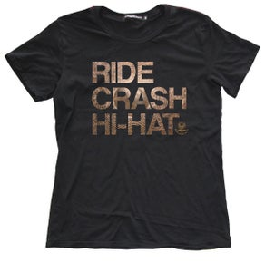 "Image of Agop ""Ride Crash Hi-Hat"" Tee - Black"