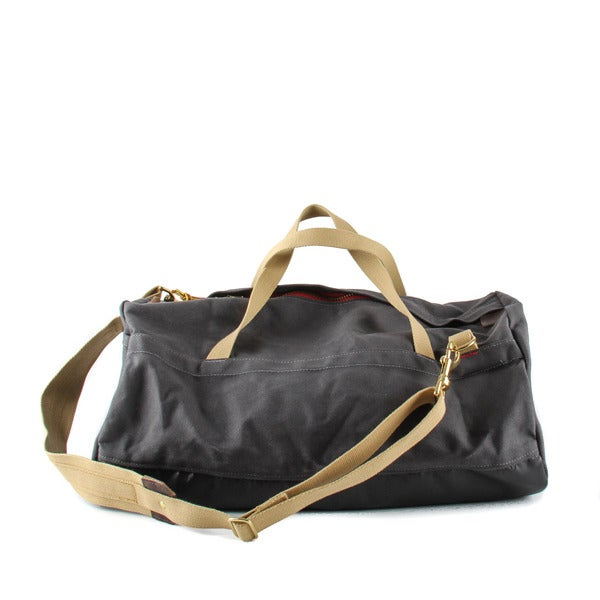 Image of Archival Duffel • Waxed Charcoal Gray