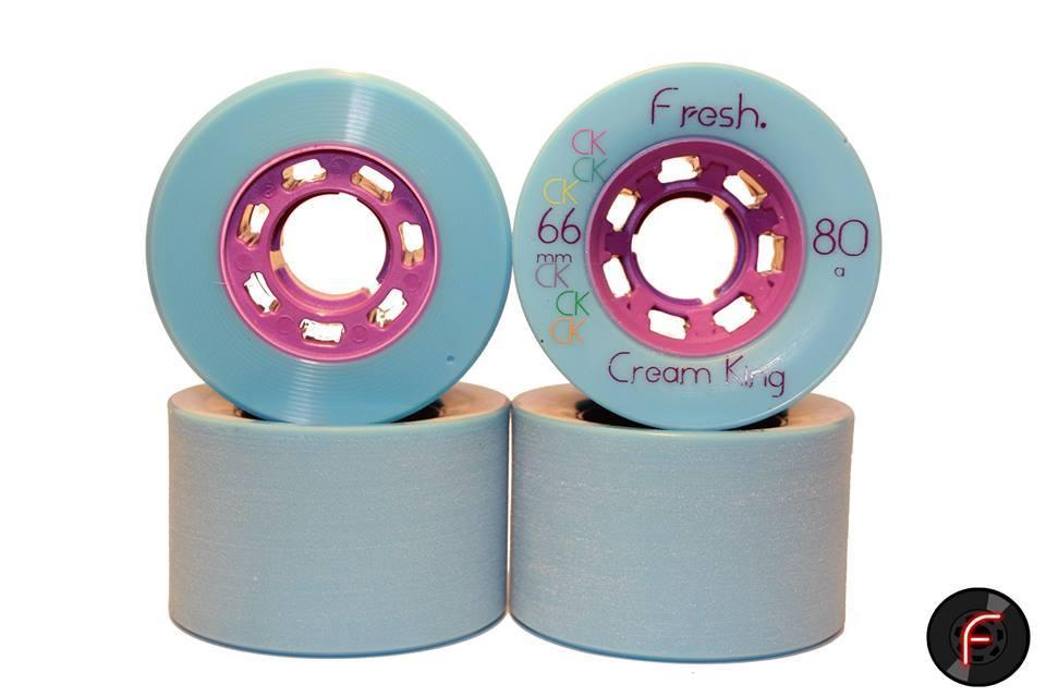 Image of Cream Kings- 66mm Freeride Wheel