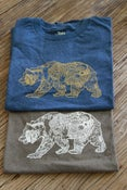 Image of 50/50 Heather Men's Short Sleeve Bear Logo T-Shirt