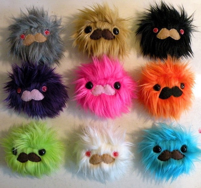 Love a sandwich mustache monster choose your color for Furry craft