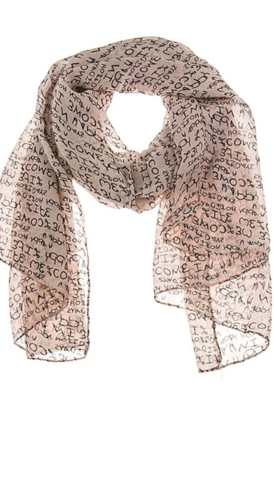 Image of Letter Print scarf