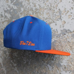 Image of T7L Snapback Hat (Orange & Blue)