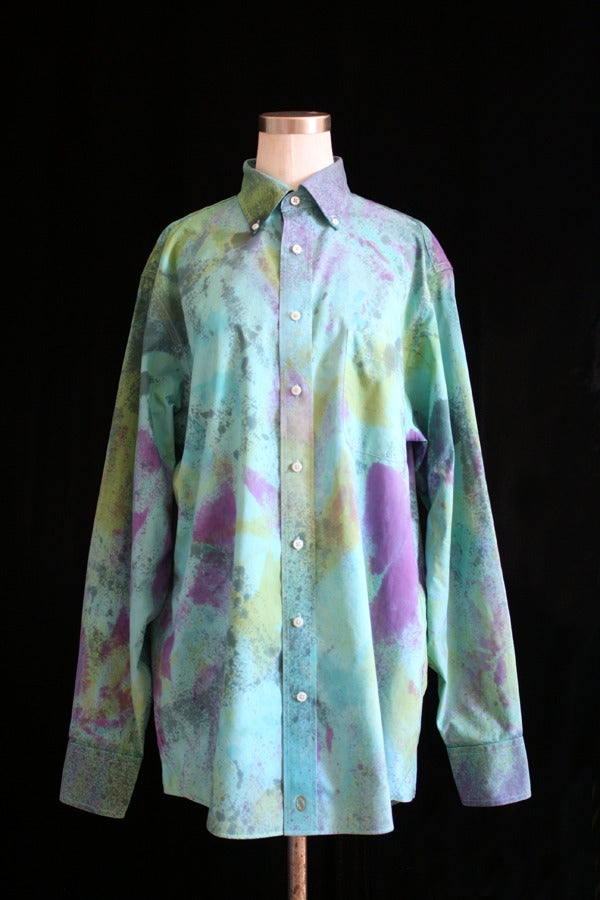 """Image of Dress Shirt, Parakeet """"Blow Out"""" Pattern"""