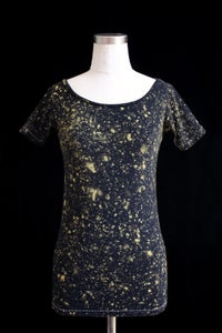 "Image of Shirt, Black ""The Universe is Expanding"" Pattern"
