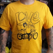 Image of Love cycles chopper family portrait gold tee