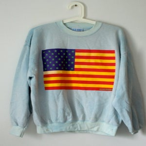 Image of Custom USA Sweatshirt Blue