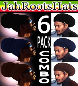 Image of Jah Roots Hats 6 Pack Combo (Black, Navy, & Brown)
