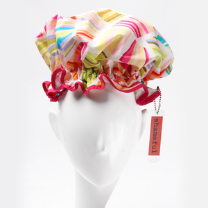 Image of Showercap bright stripes - regular size