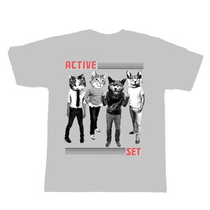 Image of Active Set 'cat head' shirt