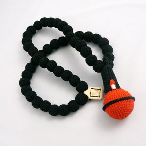 Image of Microphone Crochain - black/red/grey Necklace