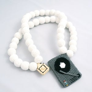 Image of Turntable Crochain white/grey/black
