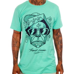 Image of The Tropical Totem Tee - Mint